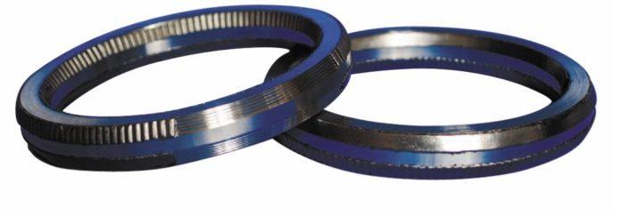 Рис. 3. Фланцевая прокладка для соединений RTJ-типа с пластичным графитовым уплотнителем