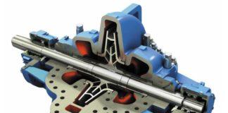 Рис. 3. Центробежный насос с рабочим колесом двухстороннего всасывания