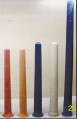 Рис. 1. Фильтрующие элементы из пористой проницаемой керамики выпускаемые в НТЦ «Бакор»