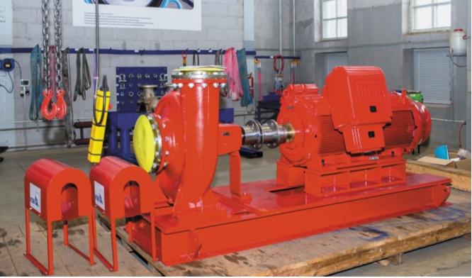 Насосный агрегат KSB для систем пожаротушения