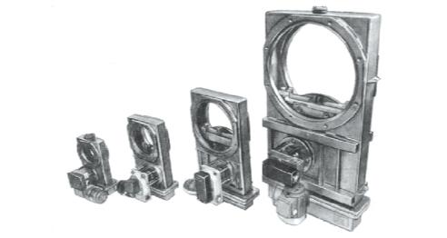 Рис. 3. Вакуумные плоские затворы шиберного типа серий ЗЭПШ и ЗППШ
