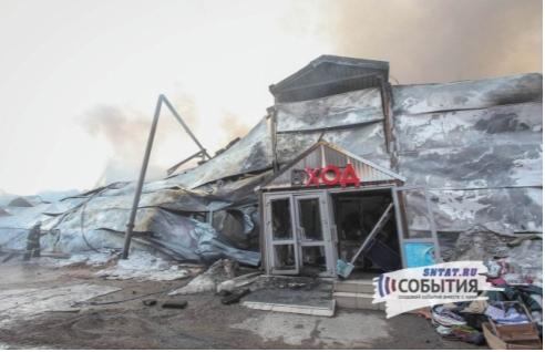 Рис. 2. Здание Торгового центра в г. Казани после пожара