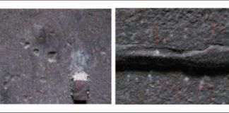 Рис. 2. Реактор сероочистки. Повреждения металла при высокотемпературной сероводородной коррозии