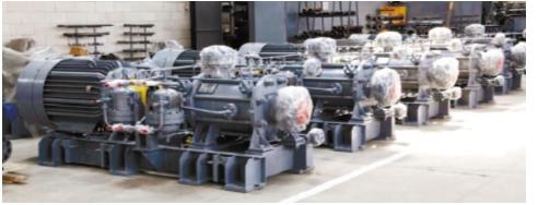 Рис. 2. Насосные агрегаты ГДМ с горизонтальным расположением вала
