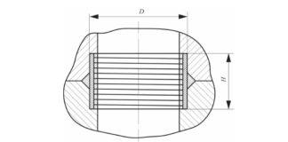 Рис. 4. Муфтовое уплотнение с фторопластовой втулкой на пружине
