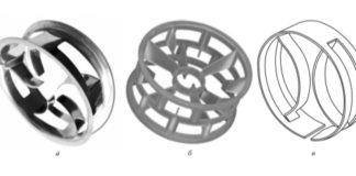 Рис. 1. Общий вид промышленных миникольцевых насадок: 1 – CMR; 2 – eta Ring; 3 – MICHM-X