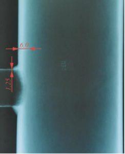 Рис. 2. Результат профилометрии образца П33