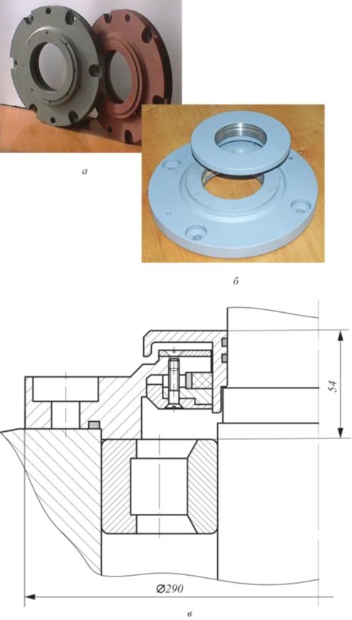 Рис. 3. Общий вид МЖГ электродвигателя 2АСВО 710 (а); МЖГ электродвигателя ВАСО 4-37-24 1 (б); продольный разрез (в)
