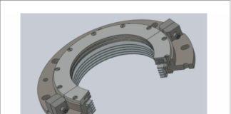 Рис. 5. МЖГК для электродвигателя СТД 3150: а – 3D-модель; б – конструкция