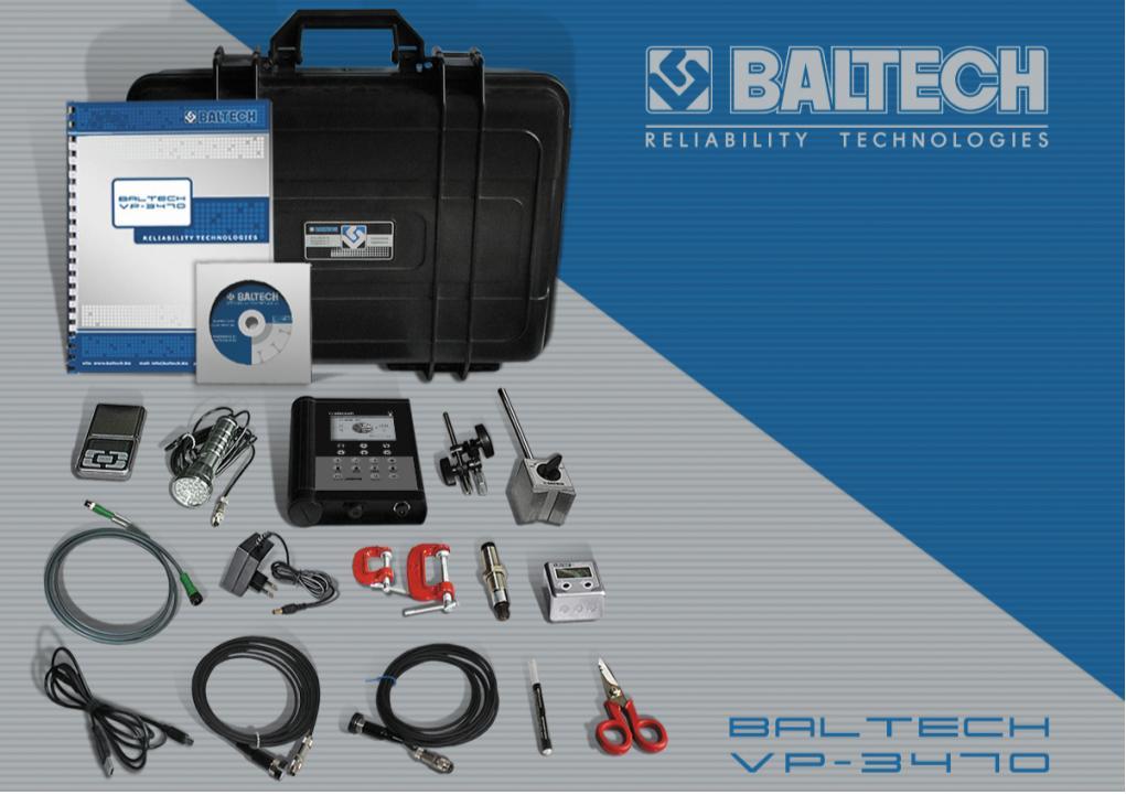 Рис. 2. Система BALTECH VP-3470 для балансировки роторов в собственных опорах