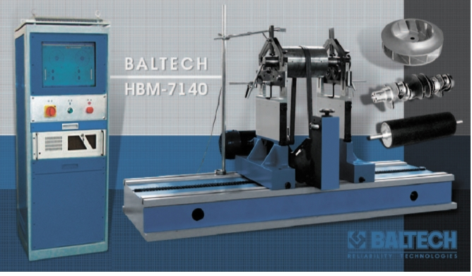 Рис. 2. Горизонтальный балансировочный станок BALTECH HBM