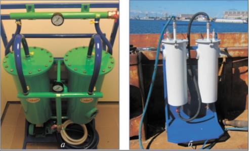 Рис. 5. Мобильные установки «Криброл»тм: а – для очистки дизельных топлив; б – для очистки трюмных вод