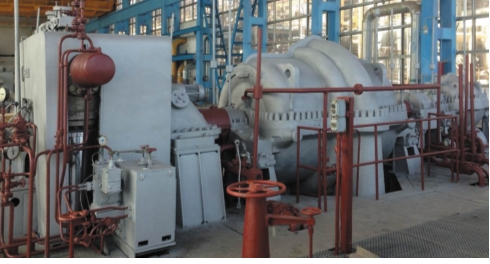 Рис. 3. Турбокомпрессорный агрегат технологического воздуха поз.101J/JT