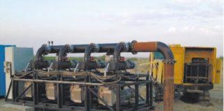 Рис. 2. Вакуумная установка, подсоединенная к газопроводу