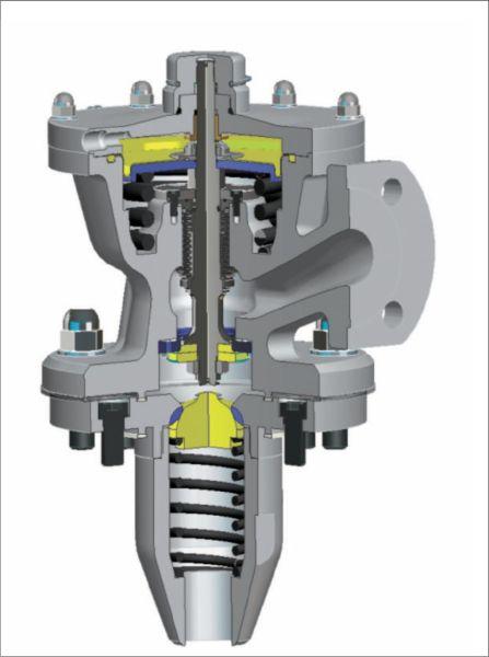 Рис. 9. Современная конструкция запорного узла для хлорной ж/д цистерны и ISO-цистерны