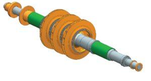 Рис. 2. CAD-модель реконструированного ротора