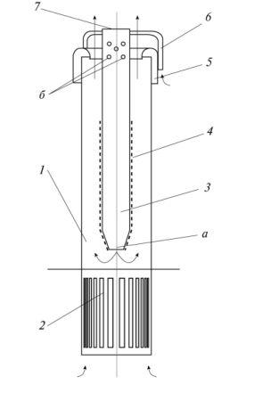Рис. 3. Силовой центробежный фильтр- сепаратор для очистки технологического воздуха от капельной воды и других жидкостей