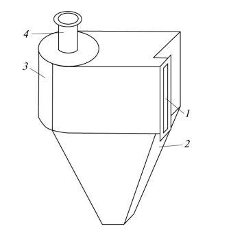 Рис. 2. Ступень многоступенчатого силового  инерционного фильтра- пылеуловителя
