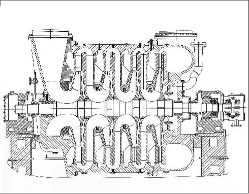 Рис. 4. Нагнетатель Н1280-41-1 для подачи воздуха в установку каталитического крекинга S.C. Petrotel-Lukoil S.A
