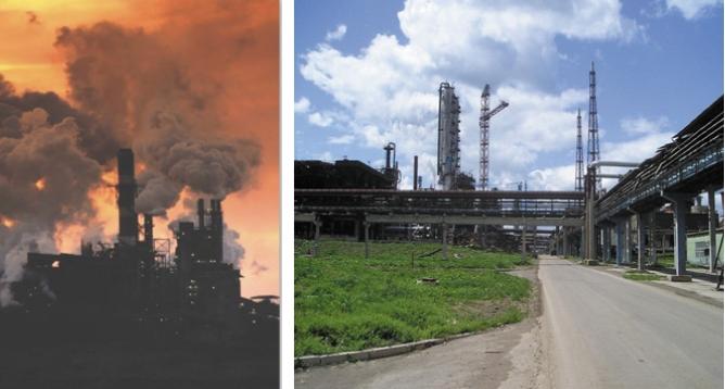 Рис. 2. Результаты (справа) технического перевооружения стадии очистки хвостовых газов с переходом на селективную очистку