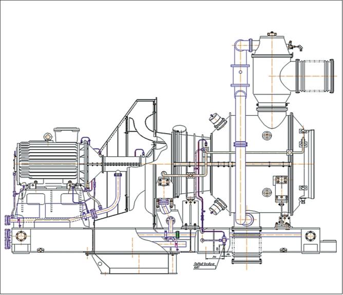 Рис. 4. Замена турбины ГТТ-3М высокоэффективной газотурбинной установкой