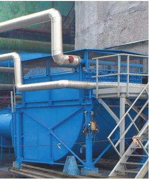 Рис. 3. Общий вид аппарата обработки воздуха у башни грануляции
