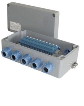 Kоробка c «взрывозащитой вида e» (аналогично выглядит коробка с «искробезопасной электрической цепью i»)