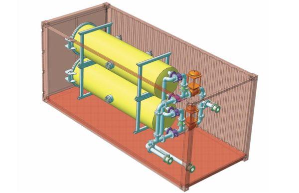 Рис. 2. Компоновка мобильного модуля фильтрации воды