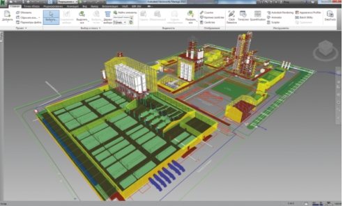 Компоновочное решение площадки на стадии Проект (П), Navisworks