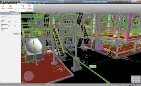 Установки по очистке сточных вод. Анализ модели и измерений в Autodesk Navisworks Freedom