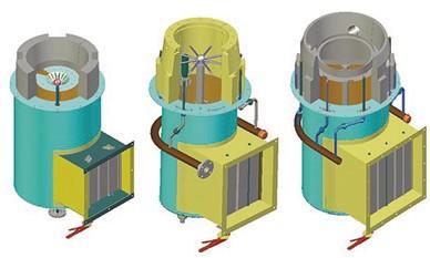Рис. 2. Усложнение конструкции и увеличение горелок габаритов в ходе модернизации