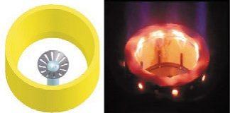 Рис. 3. Стабилизация пламени формой горелочного камня