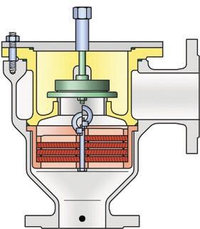 Рис. 5. Огнепреградитель с дыхательным клапаном