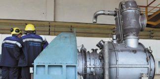 Монтаж газотурбинного двигателя в цехе №5 ОАО «Невинномысский Азот»