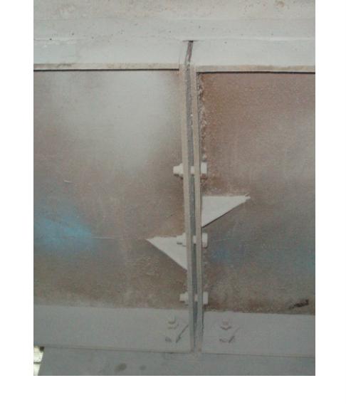 Рис. 2. Наличие зазора до 20 мм между опорными ребрами подкрановых балок