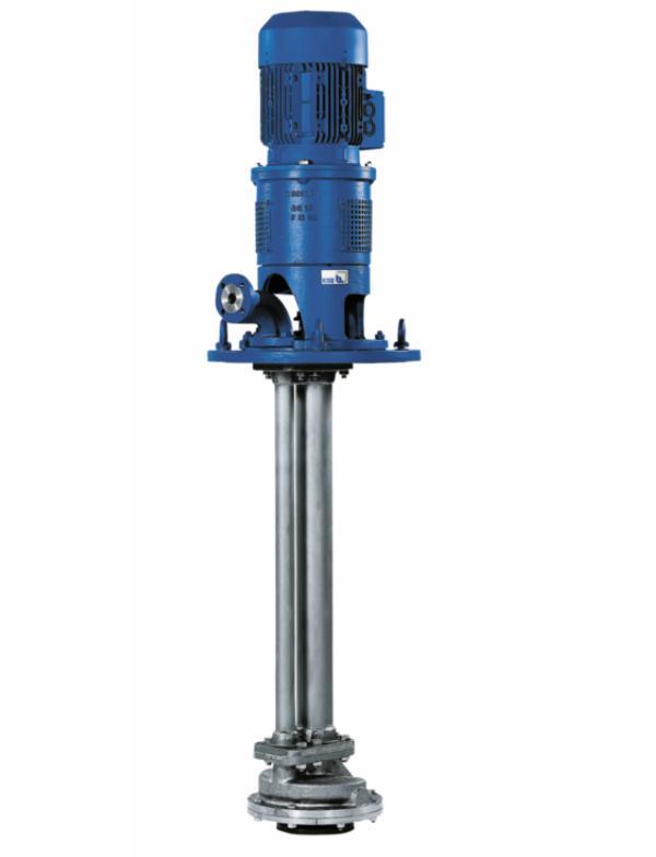Насос CTN. Вертикальный насос с трансмиссионным валом, с двухзавитковым спиральным корпусом, имеющим попе- речный разъем, для мокрой или сухой установки, с радиальным коле- сом, однопоточный, одно- или двух- ступенчатый, возможно также обогреваемое исполнение. Исполнение по ATEX. Область применения Для перекачивания химически агрессивных, слабозагрязненных жидкостей или жидкостей с незначительным содержанием твердых частиц в химической и нефтехимической промышленности. DN, мм 25…250/250…400 Q, м3/ч До 950 H, м До 115 р, бар До 16 T, °C До 300