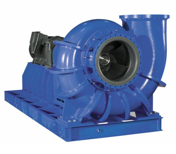 Насос KWP. Горизонтальный насос со спиральным корпусом, имеющим поперечный разъем, в моноблочном или процессном исполнении, одноступенчатый, однопоточный с разнообразной геометрией рабочих колес: канальными, открытыми многоканальными и свободновихревыми. Исполнение по ATEX. Область применения Для перекачивания очищенных сточных вод, загрязненной воды, пульпы всех видов без волокнистых примесей и сус- пензий с содержанием сухого остатка до 5 % и максимальной плотностью 2000 кг/м3. DN, мм 40…900 Q, м3/ч До 15 000 H, м До 100 р, бар До 10 T, °C – 40…140