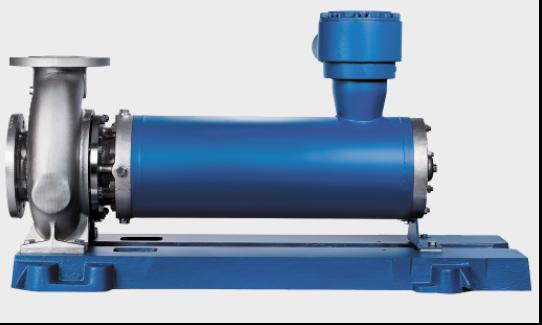 Насос  Ecochem Горизонтальный моноблочный герметичный насос со спираль- ным  корпусом,  имеющим  попе- речный разъем, радиальным рабочим колесом, однопоточный, одноступенчатый,   малошумный, оснащенный  гильзованным электродвигателем. Соответствует нормам EN 22858/ISO 2858. Поставляется в четырех исполне- ниях: стандартное исполнение для химической промышленности (тип HN), с рубашкой охлаждения для высокотемпературных (тип НТ) или загрязненных (тип HS) сред, а также специальное исполнение для сжиженных газов с рецирку- ляцией в пределах насосного агрегата (тип HР). Возможно исполнение по ATEX и ГОСТ-Р.  Q – до 690 м3/ч; H – до 236 м; T – до 400°C