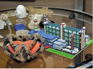 Демонстрация  напечатанных на принтере 3D моделей