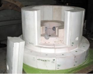 Фасонные огнеупоры для футеровки реактора для получения технического углерода