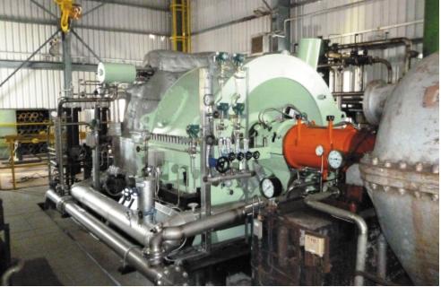 Рис. 2. Новая турбина Siemens SST-300 компрессора воздуха в Дусло Шала, Словакия