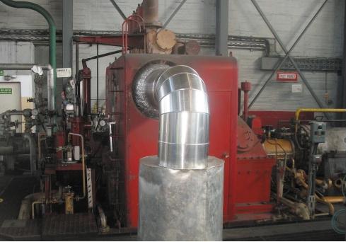 Рис. 3. Штатная турбина компании Mitsubishi 5EH-7 компрессора синтез-газа («Группа Азоты» Полице, Польша)