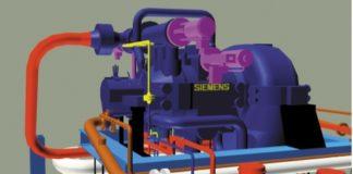 Рис. 4. Компоновка новой турбины Siemens SST-300 компрессора синтез-газа («Группа Азоты» Полице, Польша)