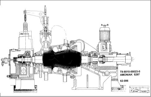 Рис. 6. Разрез турбины PBS К4,3 компрессора природного газа