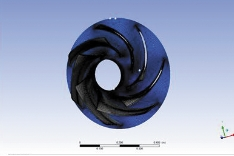 Рис. 10. Структурированная сеточная модель колеса