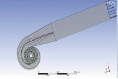 Рис. 11. Расчетная модель проточной части насоса в ANSYS СFX-Pre