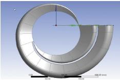 Рис. 2. 3D-модель отвода, построенная по набору эскизов