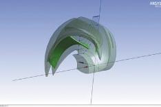 Рис. 9. CAD-модель колеса с созданными характерными сечениями