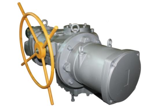 Многооборотный взрывозащищенный электропривод ЭП4 (12 000 Н•м, 11 об/мин, встроенный интеллектуальный модуль управления)