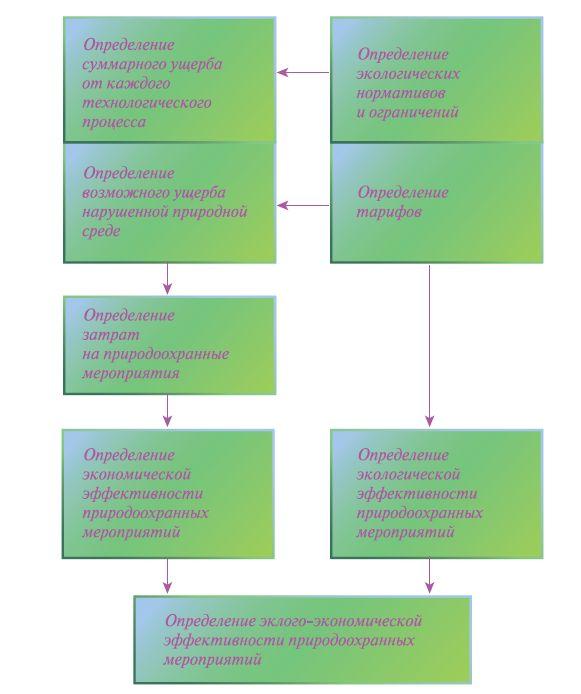 Рис. 2. Технологическая схема проведения эколого-экономической оценки техногенных последствий применения технологии